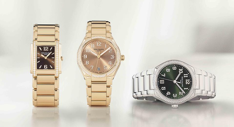 Three new models in the Patek Philippe Twenty-4 collection.
