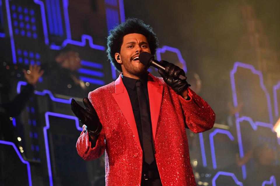 The Weeknd Rehearses For Super Bowl LV Halftime