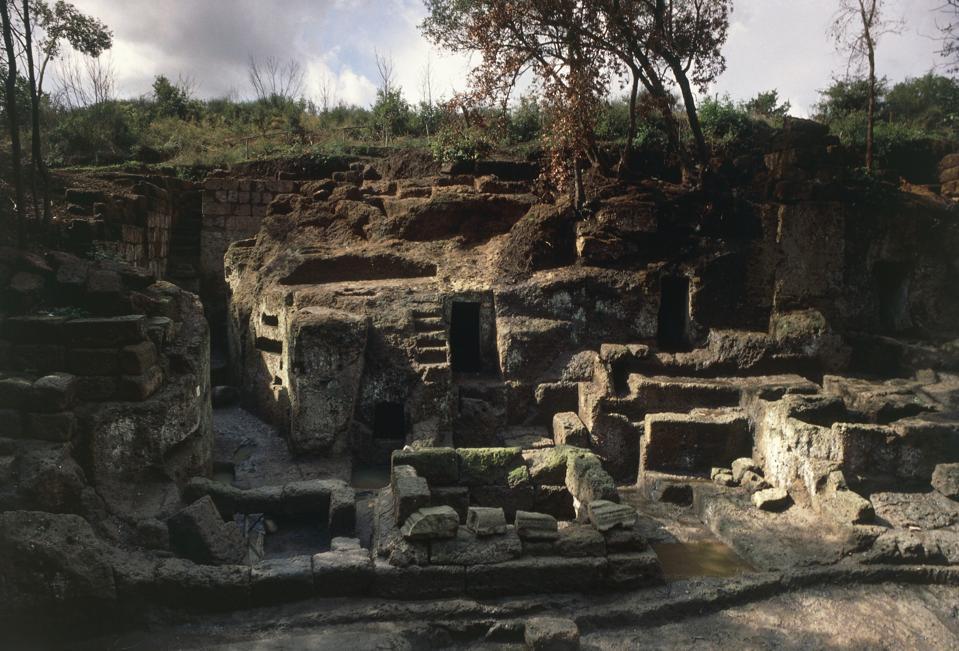 Ruins of tombs, Banditaccia Etruscan necropolis