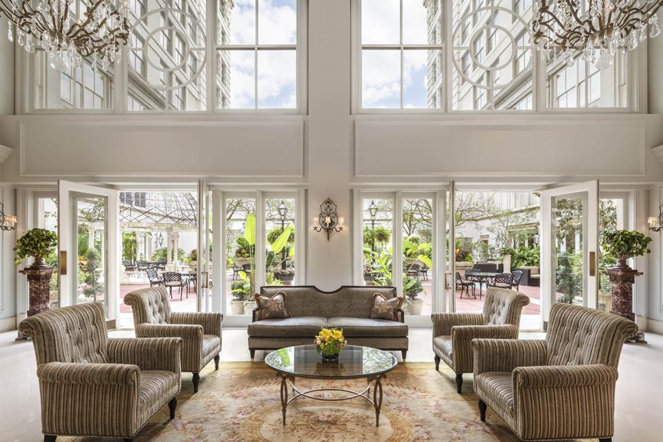The lobby of The Ritz-Carlton, New Orleans.