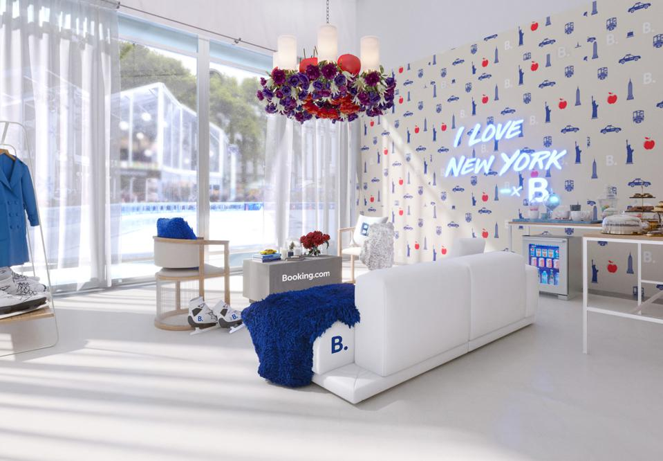 Valentine's Day pod at Bryant park Winter Village from Booking.com