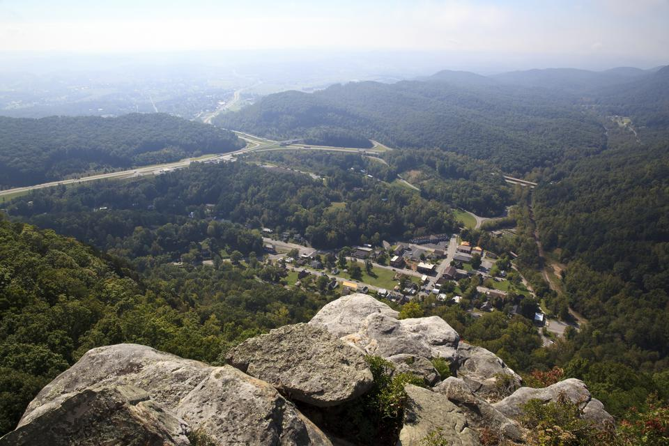 Cumberland Gap View from Pinnacle Overlook in Kentucky