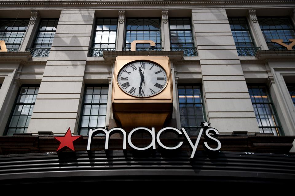 A view of the Macy's flagship store, May 12, 2017 in the Herald Square neighborhood in New York City