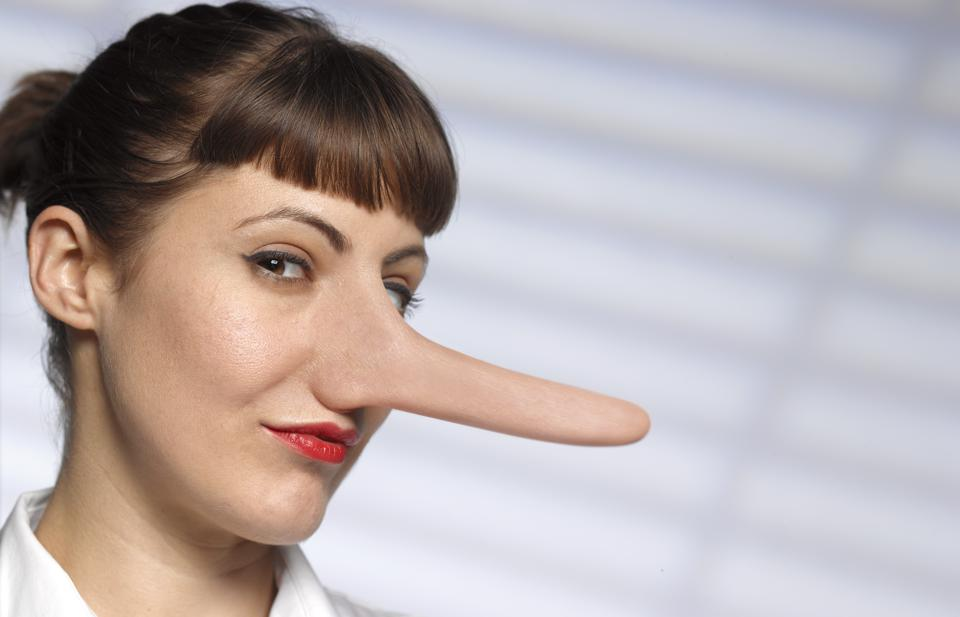 UNTRUSTWORTHY WOMAN WITH LONG NOSE