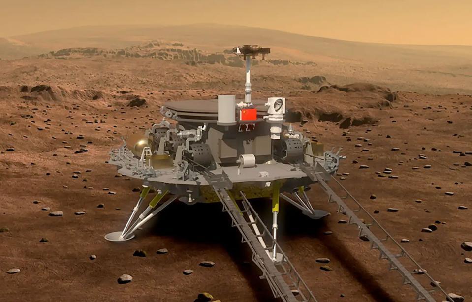 Tianwen-1 on Mars