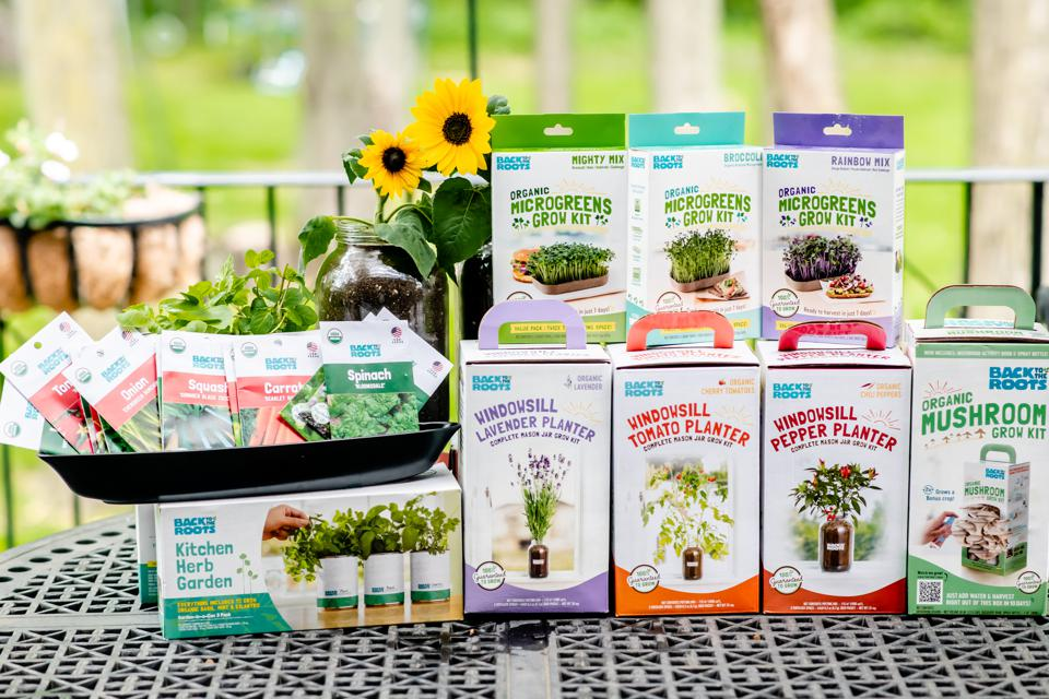 Back to the Roots organic gardening products.