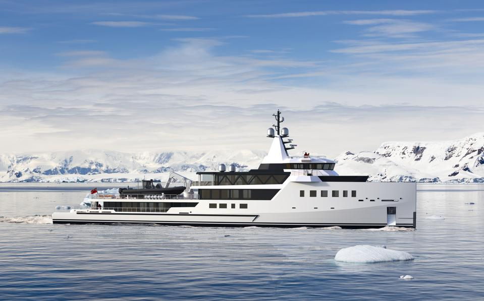 This stylish new expedition superyacht is powered with an innovative hybid propulsion system.