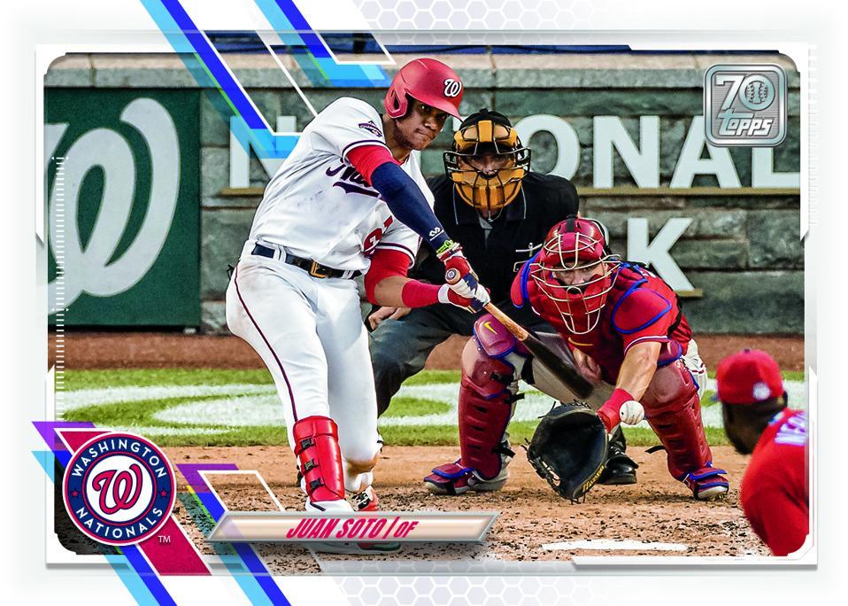 Juan Soto 2021 Topps Series 1 baseball card.