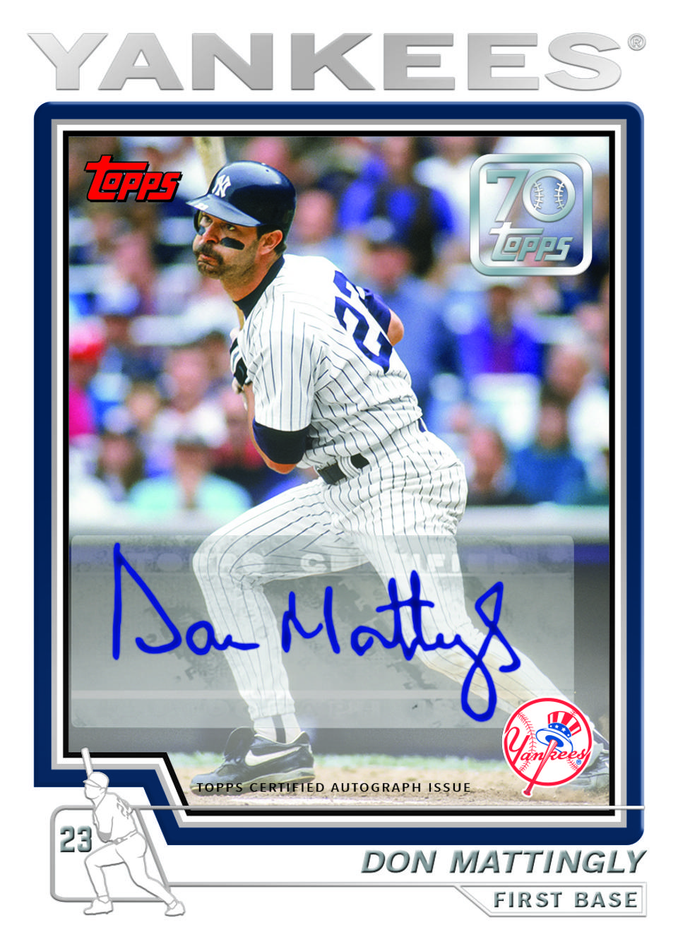 Don Mattingly 2021 Topps Series 1 autographed insert card.