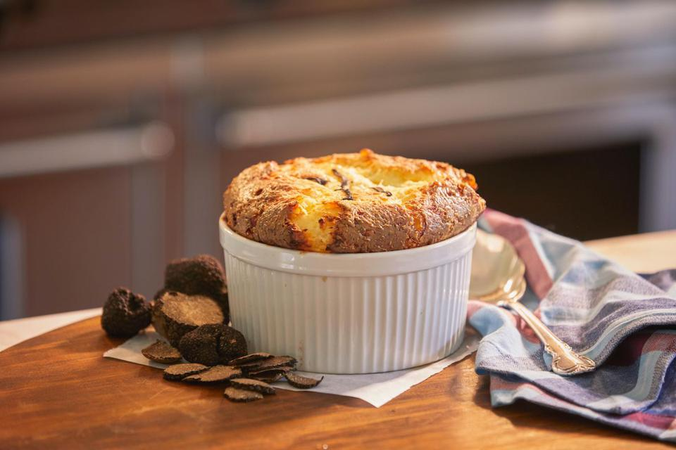The Fab Fete's White Corn and Truffle souffle