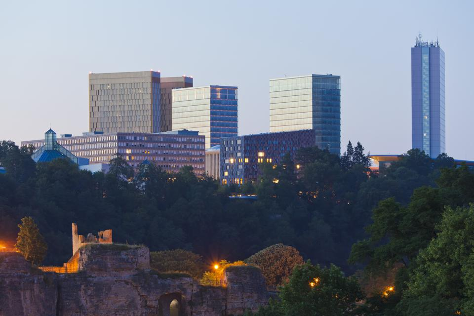 Luxembourg, View of office building