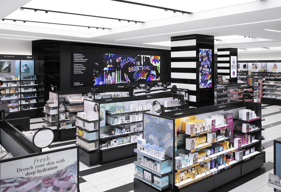 inside a Sephora beauty store