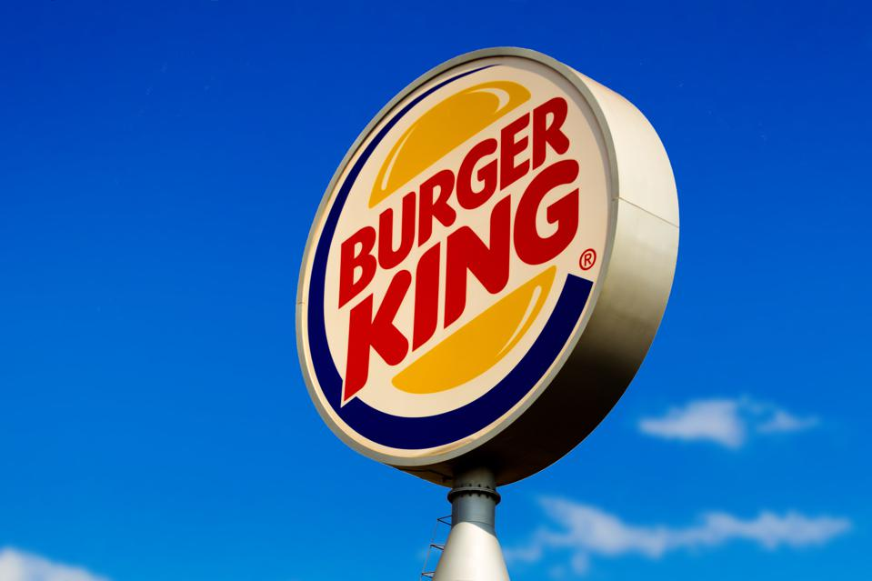 Burger King logo seen at one of its stores in Dourados, Mato...