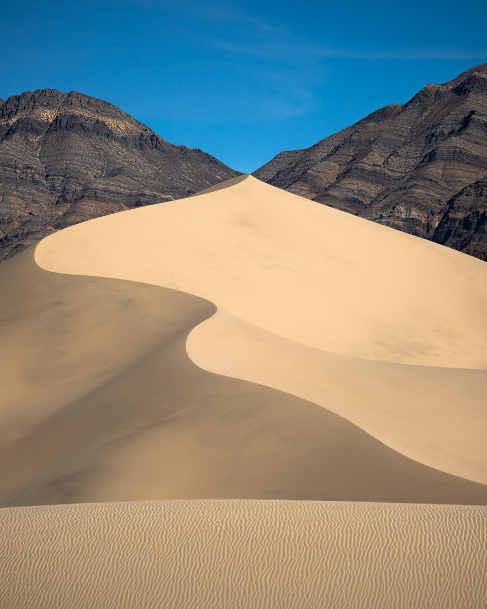 Sony World Photography Awards winner photo of desert between mountains.