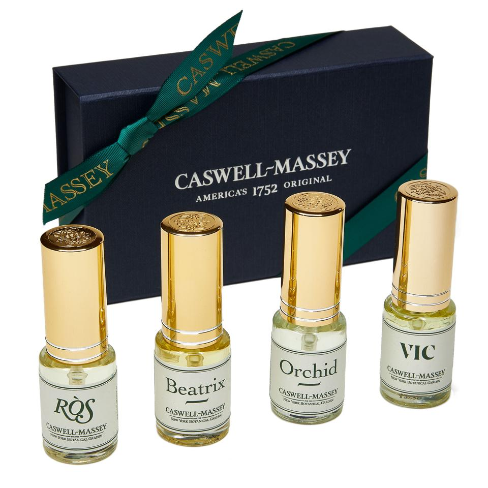 Caswell-Massey fragrance collection, made in partnership with the New York Botanical Garden