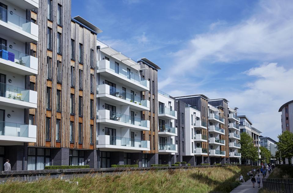 Luxury apartments along Millennium Promenade in Bristol