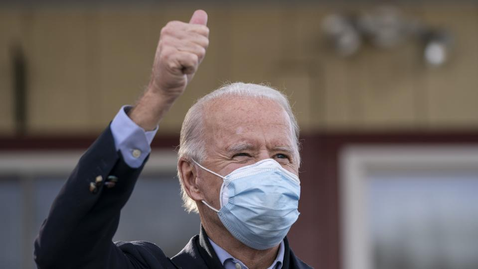 Presidential Candidate Joe Biden Travels To Pennsylvania On Election Day