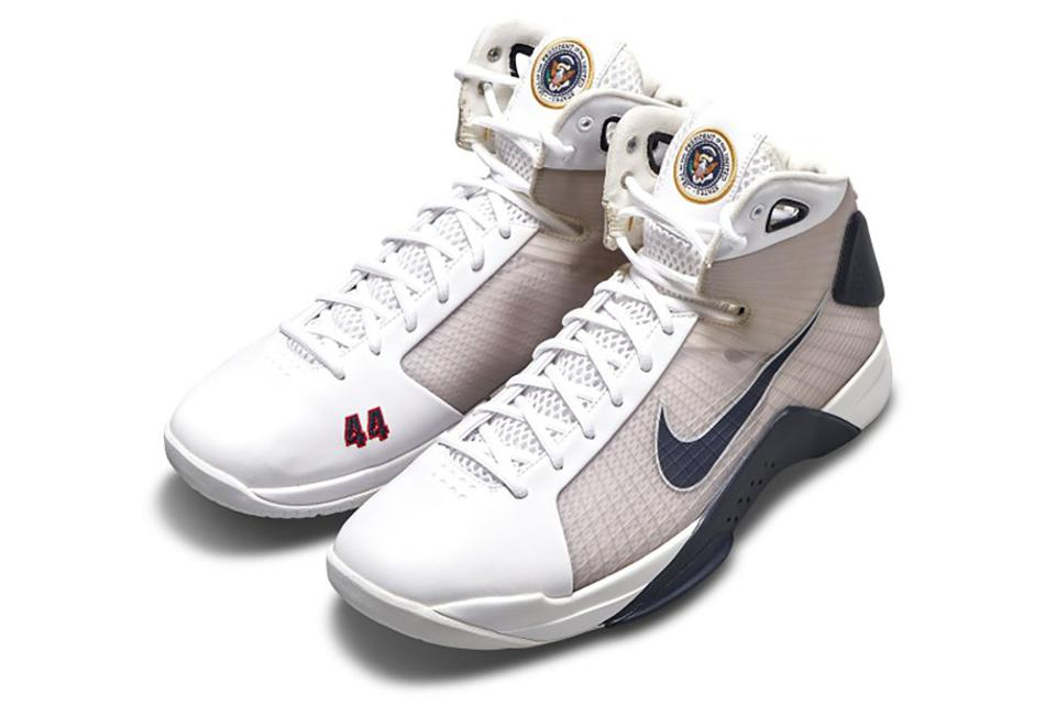 A Presidential Pair: Exclusive Nike Hyperdunk sneakers, designed exclusively for Barack Obama, will hit Sotheby's new e-commerce platform on February 12, 4:44PM eastern.