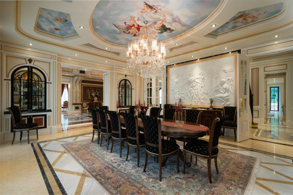 A beautiful and spacious formal dining room.