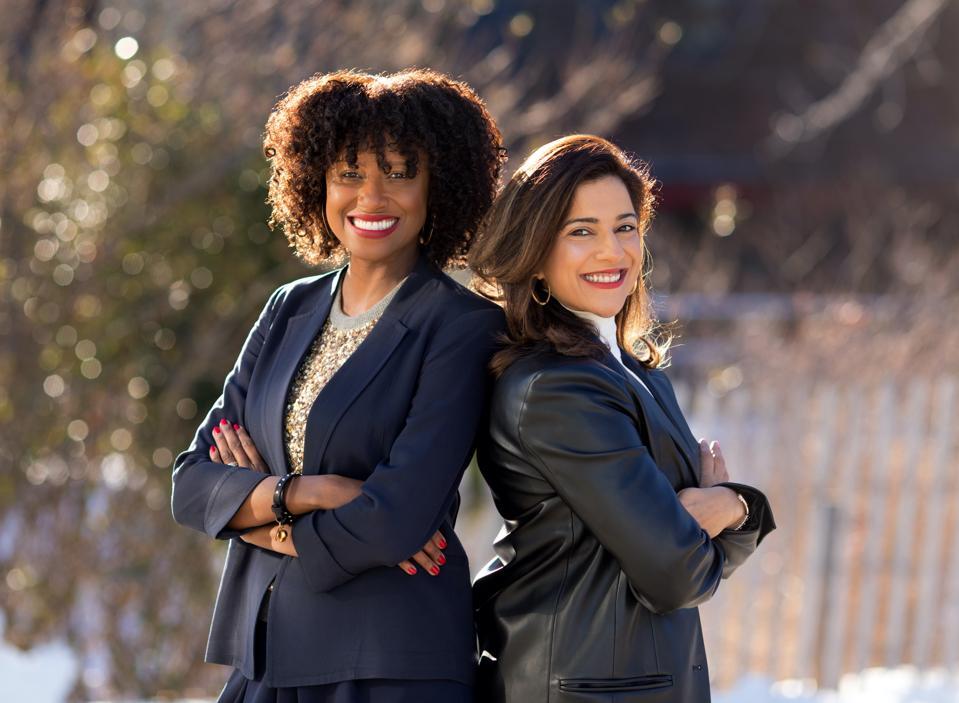 Dr. Tarika Barrett and Reshma Saujani