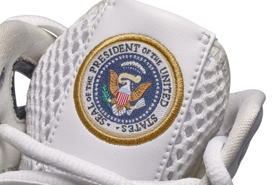 The Official Presidential Seals are featured on the tongues.