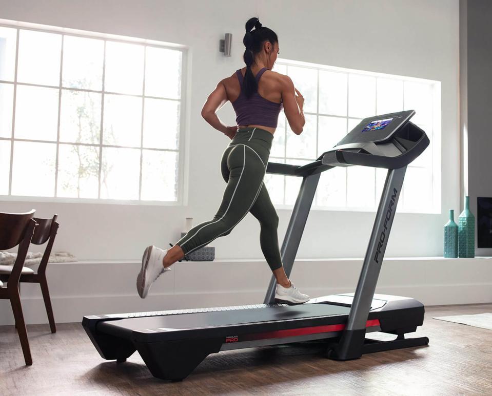 Woman running on a ProForm treadmill
