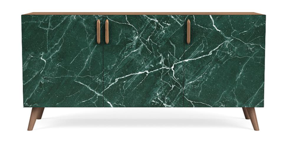 Presidents Day furniture sale Espresso Voss Sideboard in Green Marble