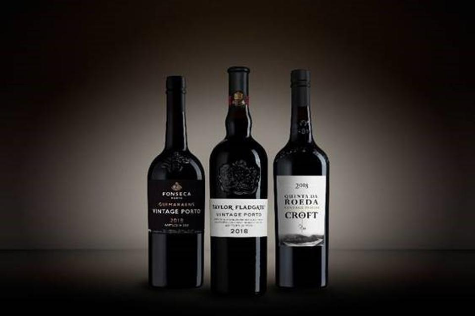 Three bottles of vintage Ports.