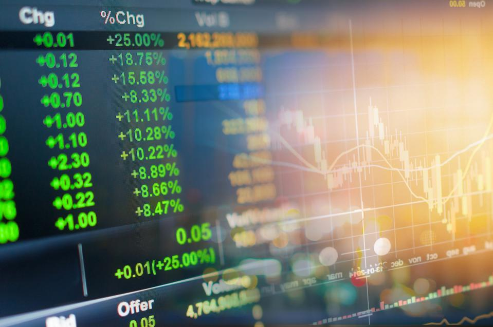 Investment theme stock market and finance business analysis