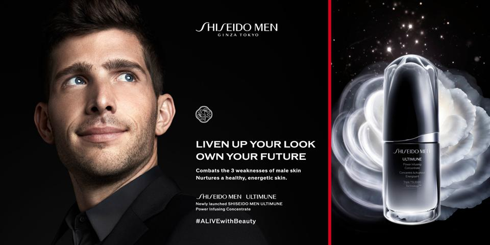 Sergi Roberto, FC Barcelona captain fronts an ad campaign for Shiseido Men Ultimune skincare.