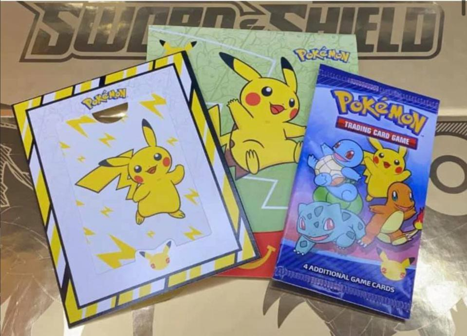 The Pokémon TCG booster pack included with Happy Meals