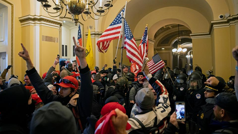 Trump Supporters Hold ″Stop The Steal″ Rally In DC Amid Ratification Of Presidential Election