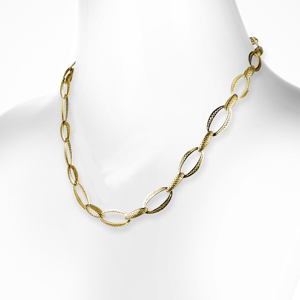 Unisex Crownwork® link necklace by Ray Griffiths