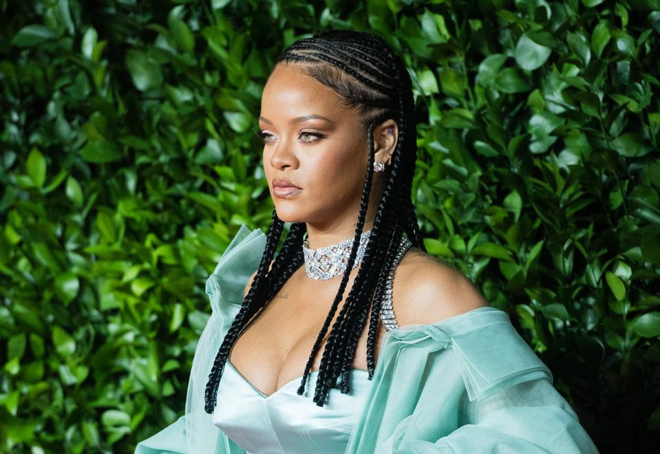 Rihanna at the The Fashion Awards 2019 Red Carpet Arrivals