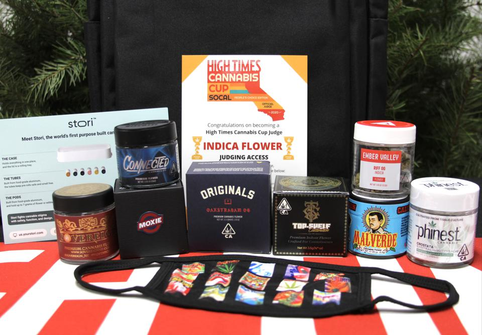 High Times Cannabis Cup Southern California: People's Choice Edition indica flower category judge's kit.