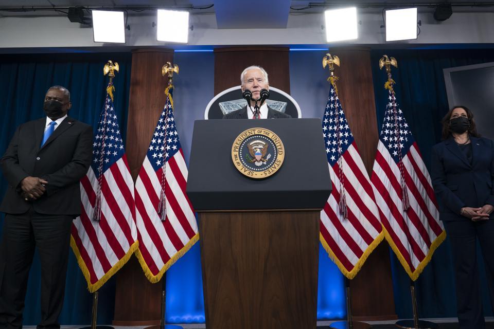President Biden And Vice President Harris Visit The Pentagon