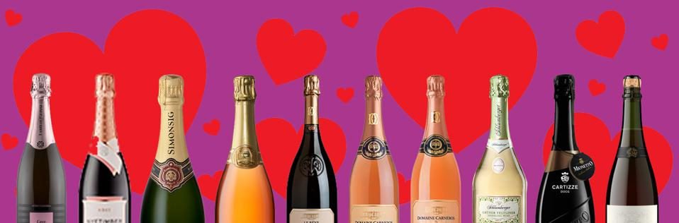 Ten bottles of sparkling for every Valentine on your list