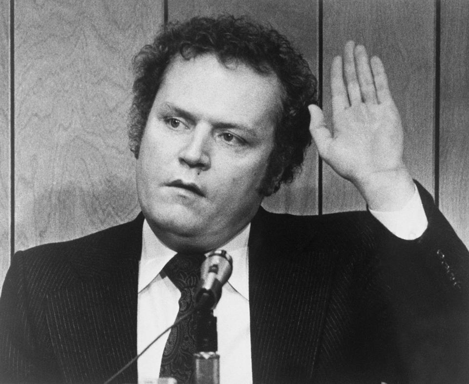 Publisher Larry Flynt Being Sworn in at Trial