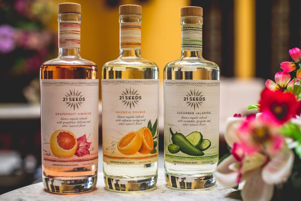 21 Seeds tequila comes in three varieties.