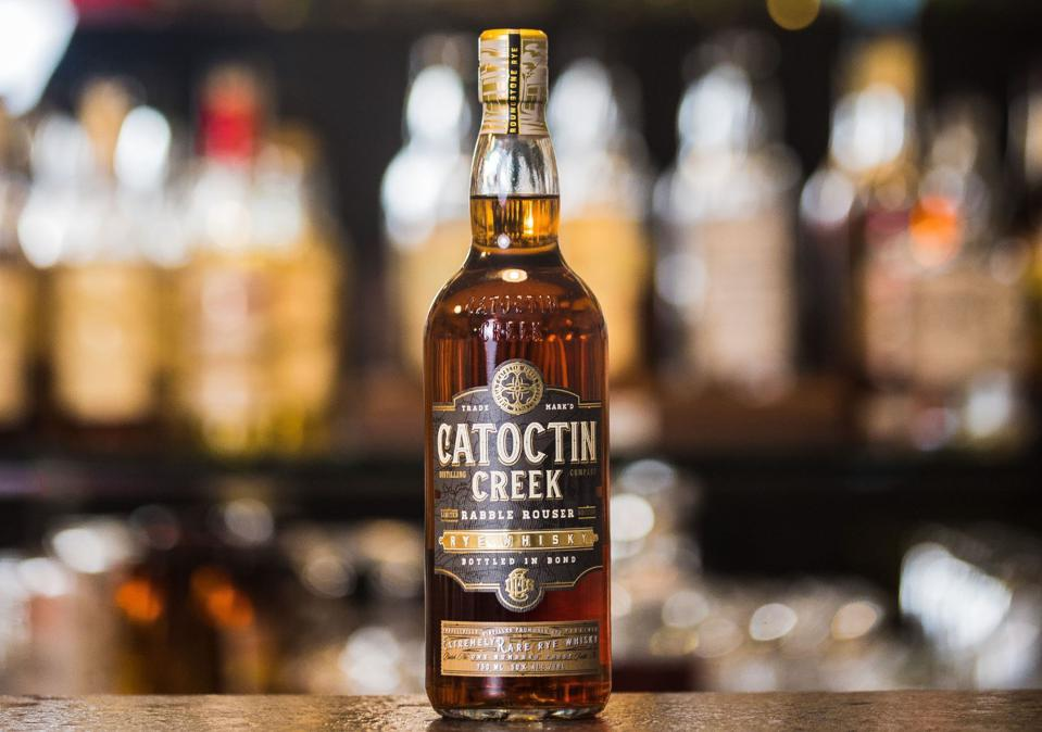 This earthy rye whisky is made in Virginia.