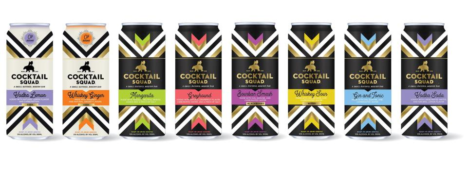 Cocktail Squad boasts eight different varieties of cocktails in its lineup.