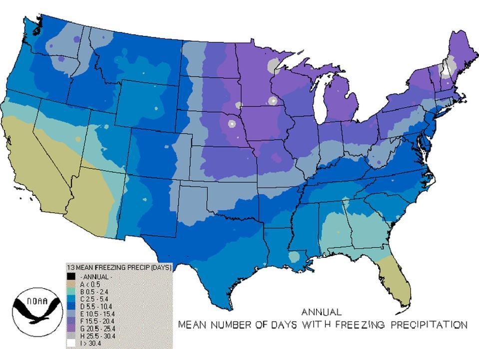 freezing rain climatology