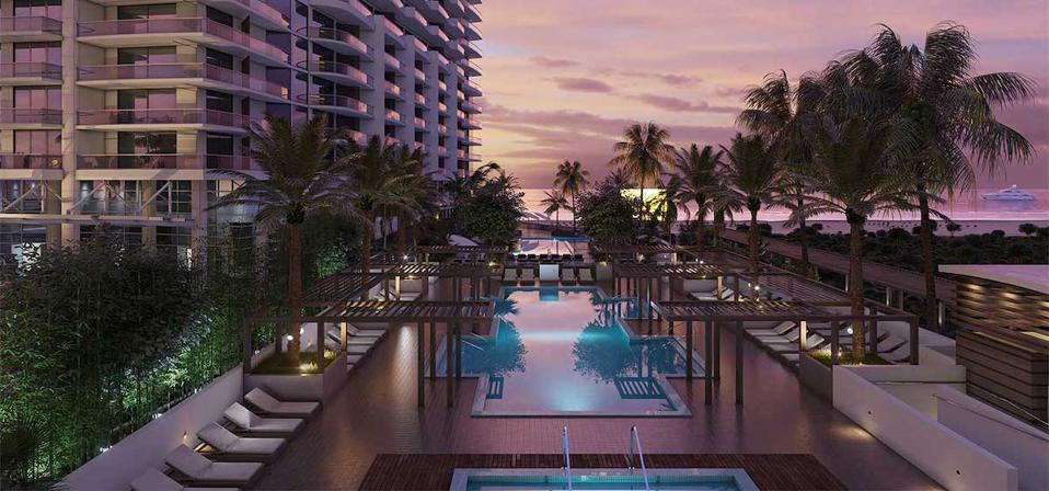 Pools and wellness amenities at Amrit Ocean Resort & Residences, Singer Island