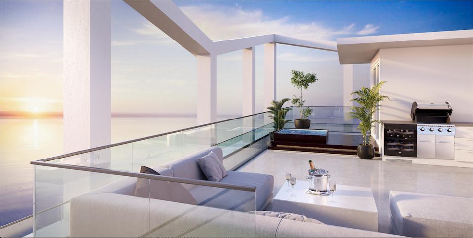 Penthouse luxury real estate on the beach at Amrit Ocean Resort & Residences Singer Island