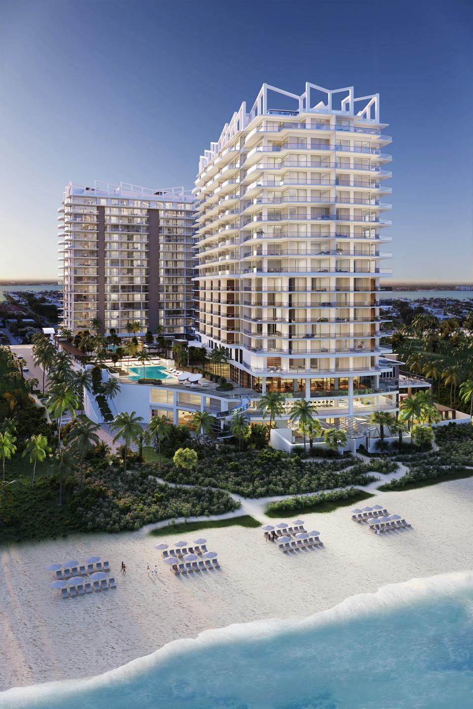 Amrit Ocean Resort & Residences, Singer Island from the beach