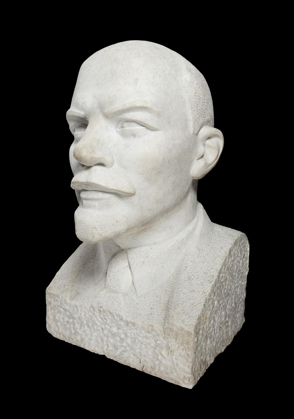 A white granite bust of Lenin that stood outside the Kaliningrad KGB headquarters.