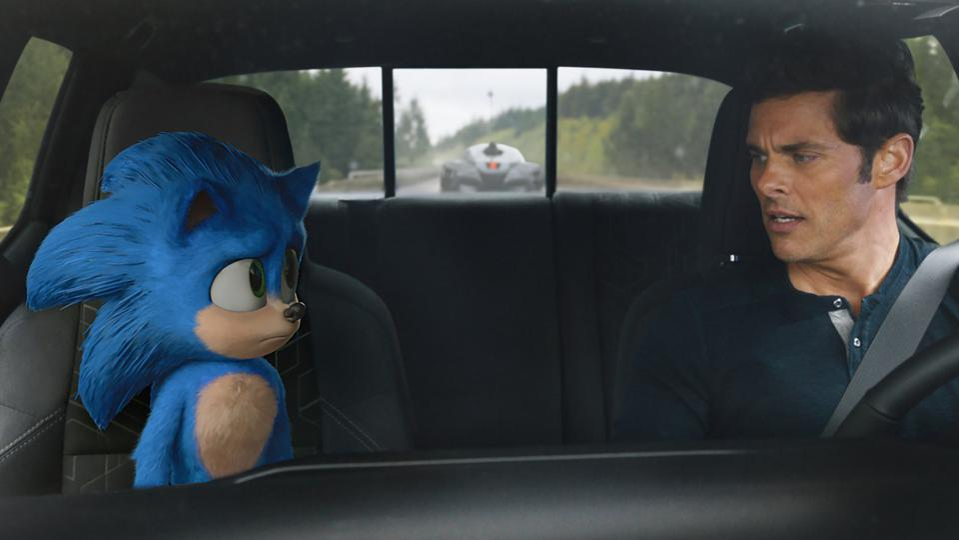 sonic hedgehog car james marsden