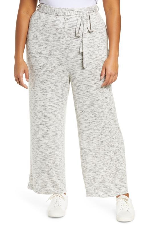 Bobeau Space Dye Sweater Knit Pants (Plus Size)
