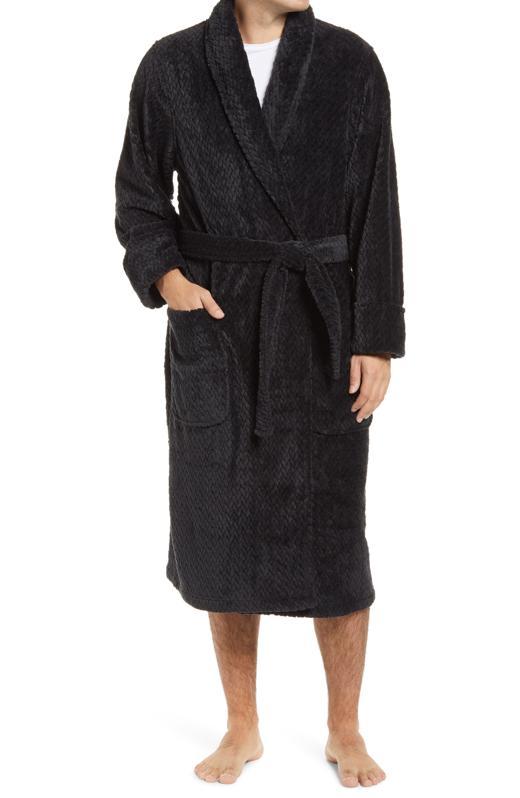 Plush Jacquard Robe