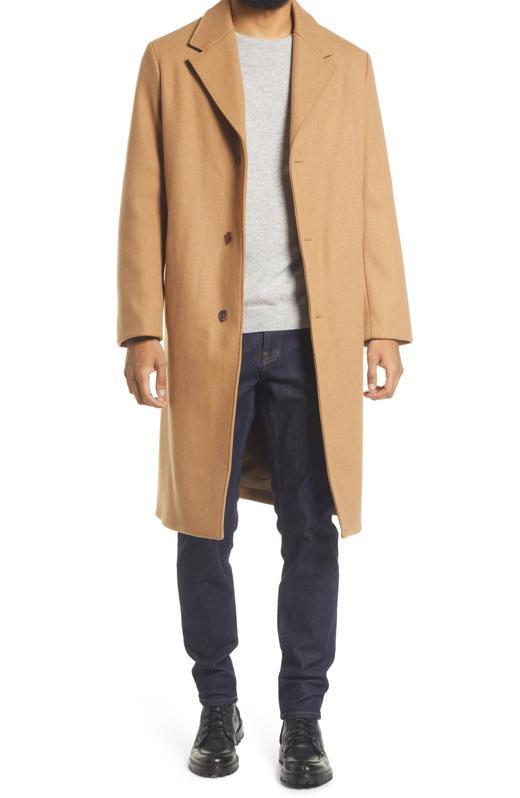 A.P.C. Men's Manteua Sacha Wool Blend Overcoat